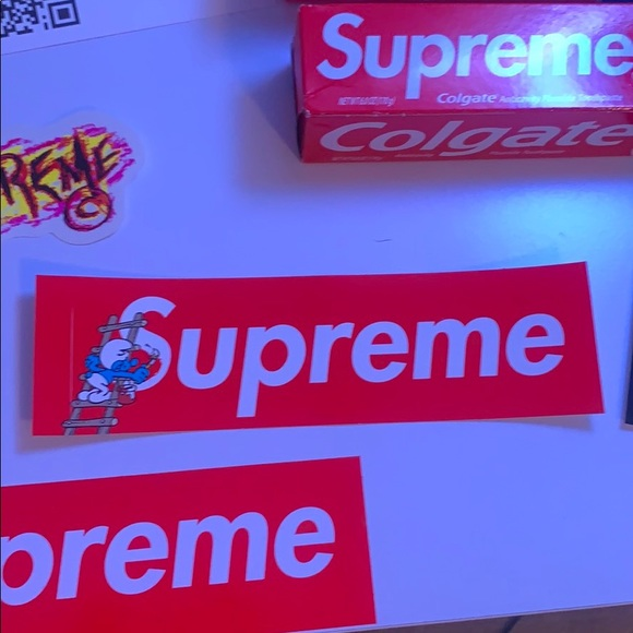 Supreme Smurf Edition Sticker